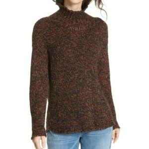 Eileen Fisher Brown Marled Funnel Neck Sweater NWT